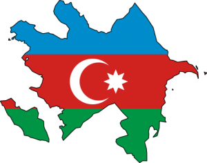 Azerbaijan-Flag-Map