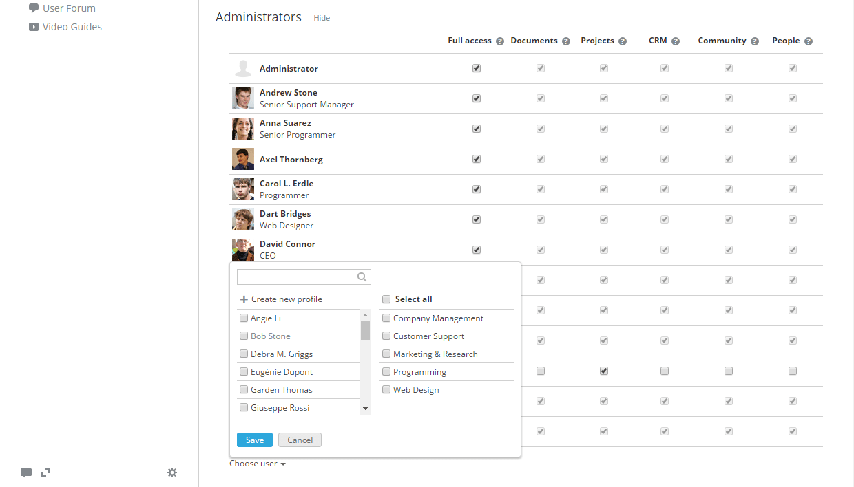 onlyoffice portal administrators