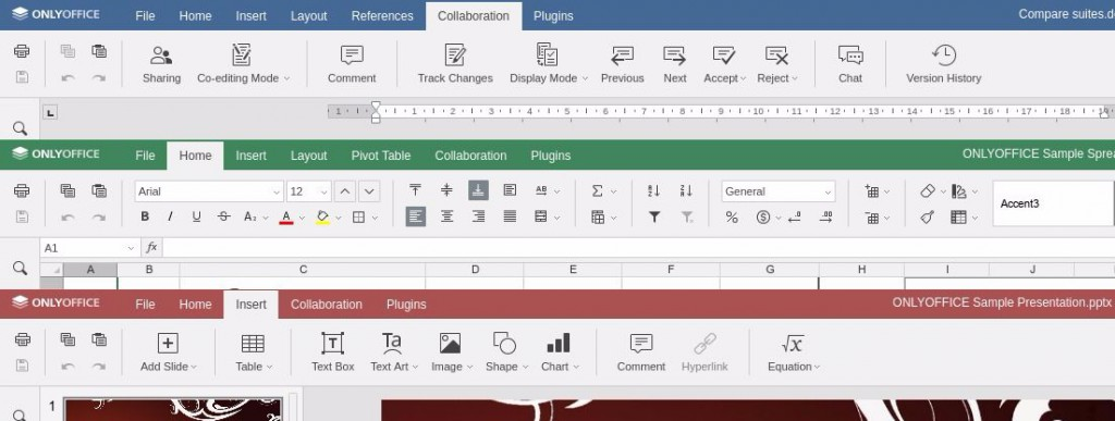onlyoffice online editors tabbed interface