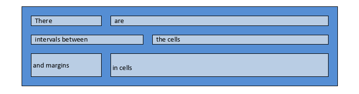 onlyoffice tables with cells intervals