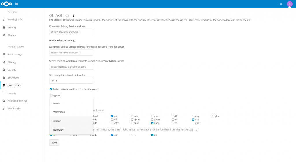 onlyoffice_nextcloud_connector_settings