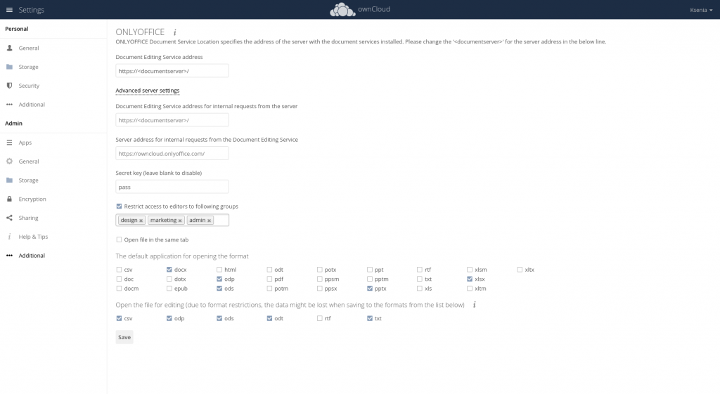 onlyoffice_owncloud_connector_settings
