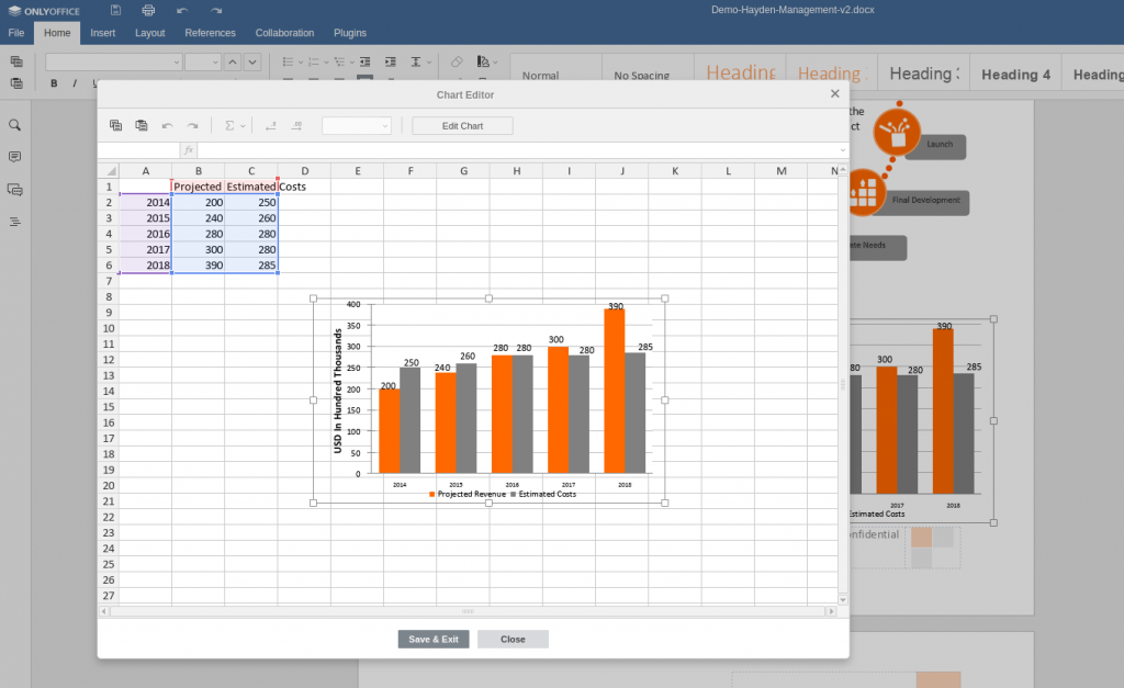 onlyoffice charts