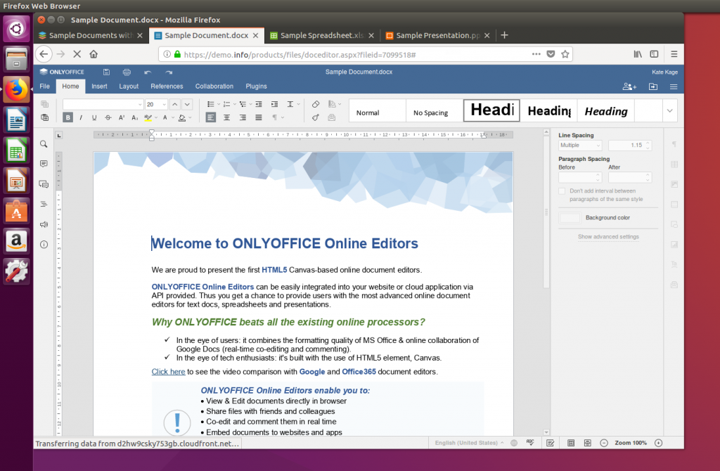 ONLYOFFICE Document Editor open source