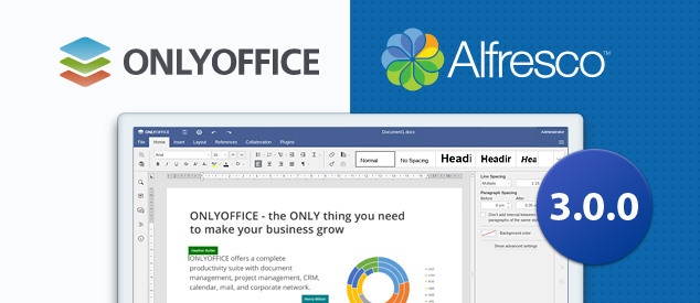 ONLYOFFICE-Alfresco integration app 3.0.0