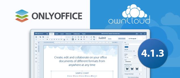 ONLYOFFICE connector v. 4.1.3. for ownCloud