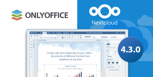 ONLYOFFICE connector 4.3.0 for Nextcloud, drag&drop of files