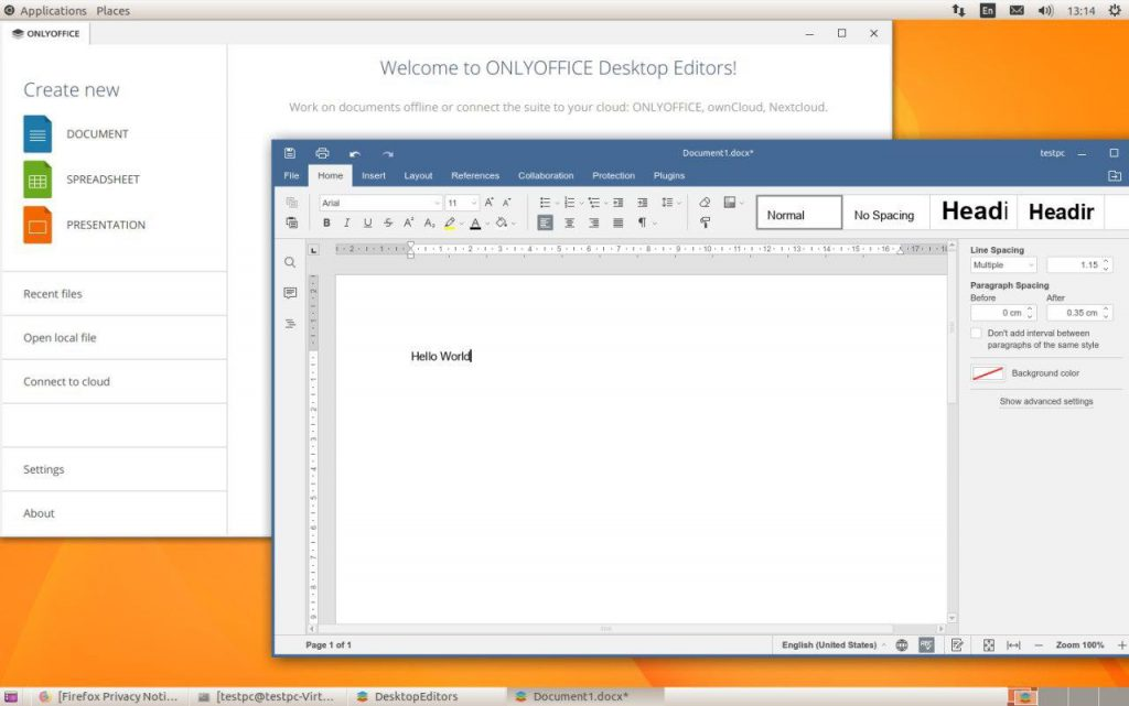 ONLYOFFICE Desktop Editors in Linkat