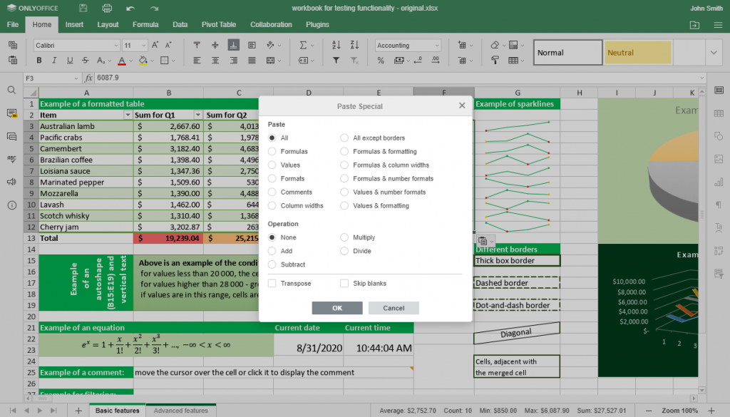 ONLYOFFICE Docs v6.0 with big updates for spreadsheets