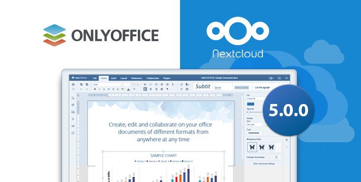 ONLYOFFICE connector 5.0.0 for Nextcloud: Apache license, version history, certificate verification settings and more
