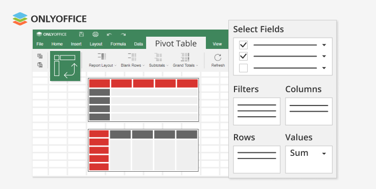 ONLYOFFICE desktop editors v6.0 with pivot tables