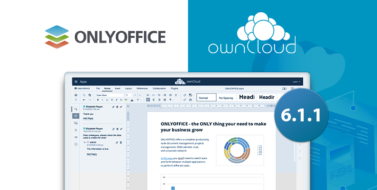 ONLYOFFICE connector v6.1.1 for ownCloud: welcome the new version