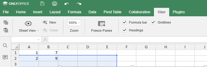 How to comfortably sort and filter data in ONLYOFFICE worksheets with Sheets Views