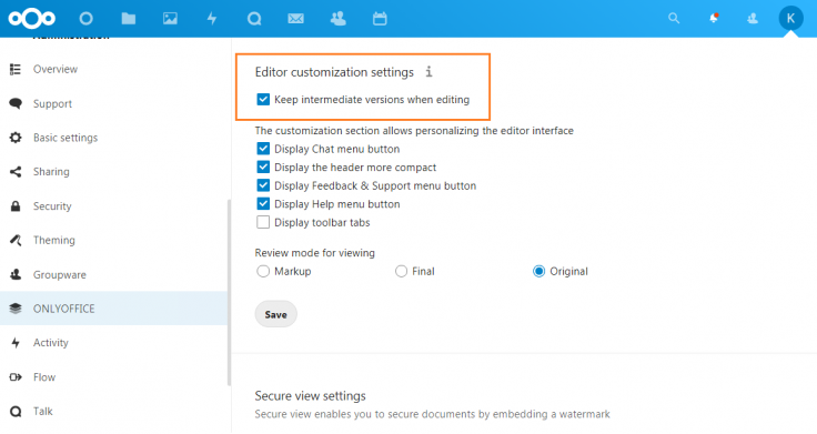 ONLYOFFICE integration app for Nextcloud: Force Save for federated shares available