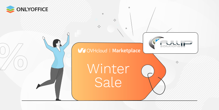 Winter Sales: deploy ONLYOFFICE Workspace on OVHcloud at half price