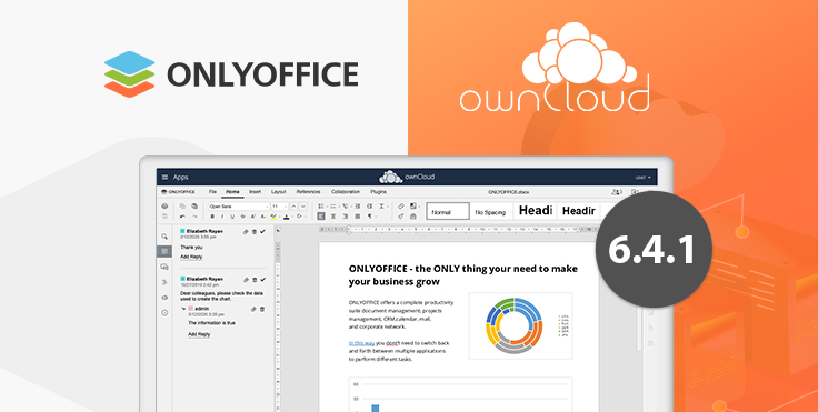 Improved document management and data security in ONLYOFFICE connector v6.4.1 for ownCloud