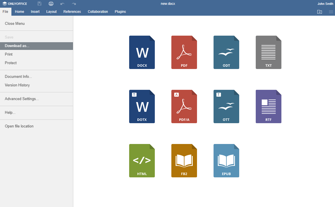 How to create an ebook from word document with ONLYOFFICE Document Editor v6.3