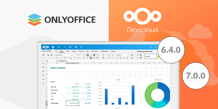 ONLYOFFICE connector for Nextcloud is available with file creation from the editor and document templates