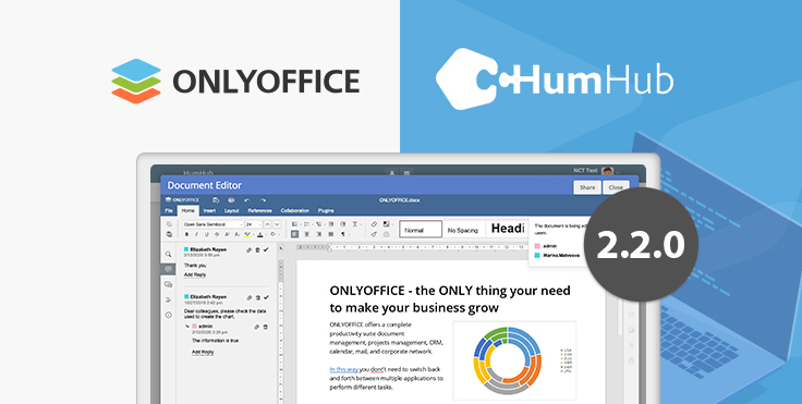 ONLYOFFICE official connector for HumHub updated